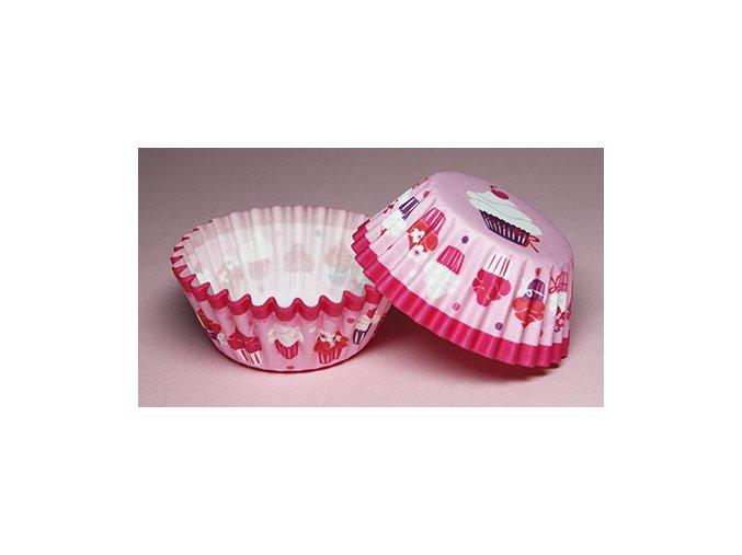 Růžový cupcake